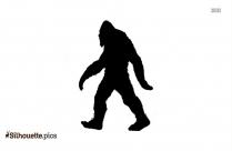 Free Bigfoot Cartoon Silhouette