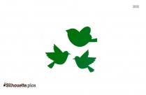 Free Birds Flying Cartoon Silhouette