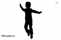 Boy Jumping Silhouette Illustration