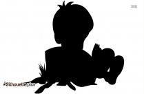 Girl Reading Silhouette Illustration