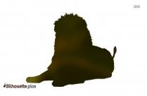 Beautiful Lion Silhouette Drawing