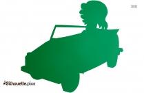 Cartoon Toy Car Silhouette Free Vector Art