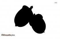 Cartoon Acorn Nut Silhouette