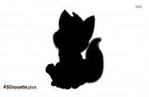 Baby Fox Cartoon Silhouette Art