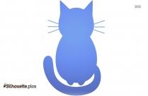 Free Cartoon Cat Sitting Silhouette Image