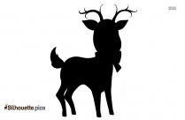 Christmas Reindeer With Lights Silhouette