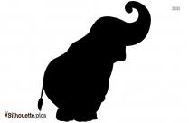 Free Cartoon Cute Elephant Silhouette