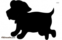 Cartoon Dog Silhouette Background Image