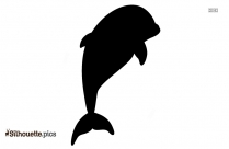 Free Cartoon Dolphins Silhouette