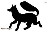 Free Cartoon Fox Running Silhouette