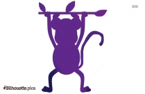 Hanging Monkey Silhouette Free Vector Art