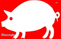 Cartoon Pig Silhouette Image Free Download
