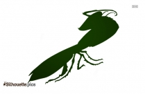 Free Cartoon Praying Mantis Silhouette