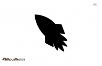 Black And White Rocket Blasting Off Silhouette