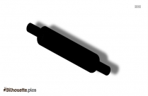 Free Cartoon Rolling Pin Silhouette