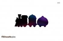 Free Cartoon Train Engine Silhouette Image