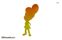 Cartoon Man Silhouette Image Vector