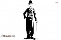 Free Charlie Chaplin Outline Silhouette