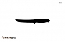 Kitchen Knife Silhouette Vector Picture