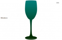 Free Cocktail Glass Silhouette Image