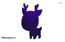 Free Cute Cartoon Baby Animals Silhouette