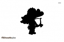 Funny Cupid Clipart Silhouette
