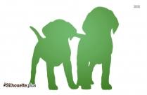 Cute Puppy Dog Silhouette Vector