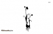 Flowers And Leaves Silhouette
