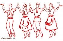 Free Dandiya Dance Silhouette