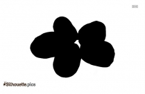 Black And White Apple Slice Silhouette