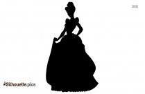 Cartoon Princess Silhouette Clipart
