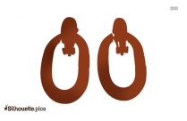 Free Door Knocker Earrings Silhouette