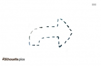 Left Arrow Silhouette Icon Clipart Image