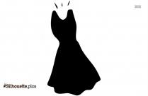 Long Sleeve Dresses White Background Silhouette