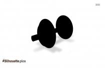 Black Treadmill Silhouette Image