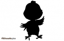 Free Easter Chick Silhouette