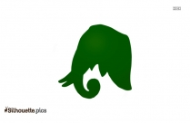 Cartoon Elephant Silhouette Pic