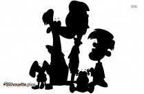 Free Family Cartoon Of 5 Download Free Silhouette