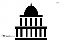 Government Silhouette Image And Vector, Government Building Black And White Clip Art