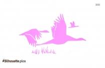 Free Flock Of Birds Silhouette