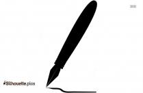 Pen Icon Silhouette Clip Art