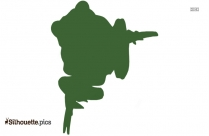 Free Frog Jumping Silhouette