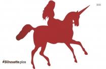 Unicorn Drawings Silhouette Free Vector Art