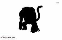 Free Great Ape Drawing Silhouette