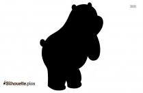 Cartoon Bear Silhouette Drawing