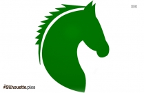 Small Horse Running Silhouette Clipart