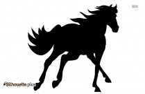 Free Horse Running Silhouette