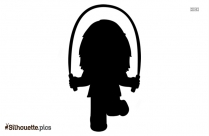 Kid Jumping Silhouette Illustration