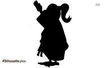 Karate Girl Kick Silhouette Clipart