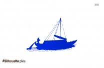Free Keelboat Silhouette